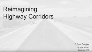 first slide of reimagining highway corridors presentation