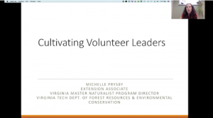 first slide of volunteer leaders presentation